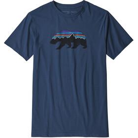 Patagonia M's Fitz Roy Bear Organic T-Shirt Stone Blue
